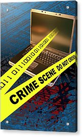 Cyber Crime Acrylic Print by Carol & Mike Werner