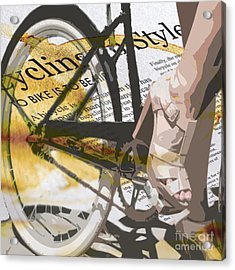 Cycle Chic Acrylic Print by Sassan Filsoof
