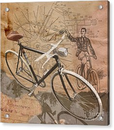 Cycling Gent Acrylic Print by Sassan Filsoof