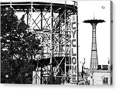 Cyclone At Coney Island Acrylic Print by John Rizzuto