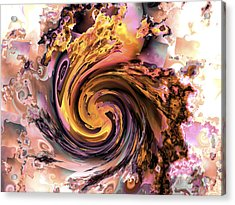 Cyclone Of Color Acrylic Print by Claude McCoy