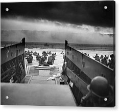 D-day Landing Acrylic Print by War Is Hell Store