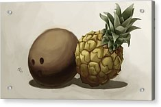 Da Pinepple With Cocoanut  Acrylic Print by Christopher Evans