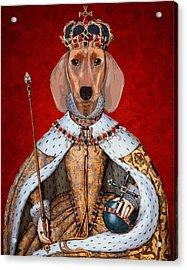 Dachshund Queen Acrylic Print by Kelly McLaughlan