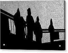 Dad And Three Boys Acrylic Print by Tom Gari Gallery-Three-Photography