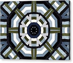 Daddy's Denims Quilt Acrylic Print by Barbara Griffin