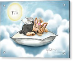 Daddy's Pillow In Heaven Acrylic Print by Catia Cho