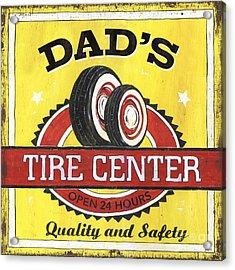 Dad's Tire Center Acrylic Print by Debbie DeWitt
