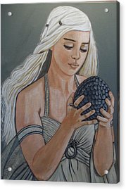 Daenerys Dragon Queen Acrylic Print by Tammy Rekito