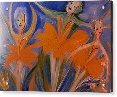 Daffodil Ballet Acrylic Print by Judith Desrosiers