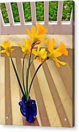 Daffodil Boquet Acrylic Print by Chris Berry