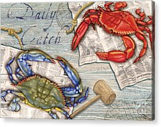 Daily Catch Crabs Acrylic Print by Paul Brent