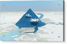 Daily Global Co2 Emissions Acrylic Print by Adam Nieman