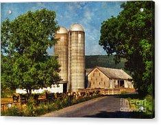 Dairy Farming Acrylic Print by Lois Bryan