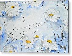 Daisies - Flower Acrylic Print by Ismeta Gruenwald