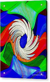 Daisy Bloom Digital Art Acrylic Print by ImagesAsArt Photos And Graphics