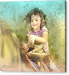 Daisy On Pone Pone Acrylic Print by Bert