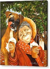 Daisy's Mocha Latte Acrylic Print by Shelly Wilkerson