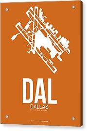 Dal Dallas Airport Poster 2 Acrylic Print by Naxart Studio