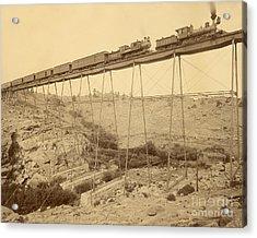 Dale Creek Bridge Union Pacific Acrylic Print by Getty Research Institute