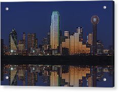 Dallas Aglow Acrylic Print by Rick Berk