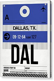 Dallas Airport Poster 1 Acrylic Print by Naxart Studio