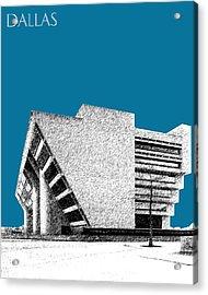 Dallas Skyline City Hall - Steel Acrylic Print by DB Artist