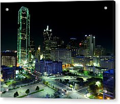 Dallas Hdr 007 Acrylic Print by Lance Vaughn