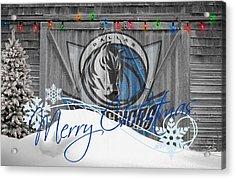 Dallas Mavericks Acrylic Print by Joe Hamilton