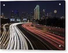 Dallas Night Acrylic Print by Rick Berk