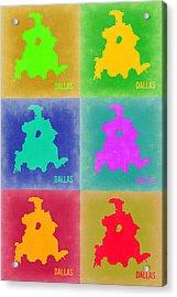 Dallas Pop Art Map 3 Acrylic Print by Naxart Studio