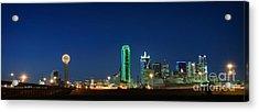 Dallas Skyline Acrylic Print by Charles Dobbs
