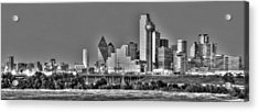 Dallas The New Gotham City  Acrylic Print by Jonathan Davison