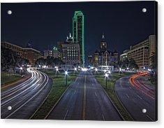 Dallas West End At Night Acrylic Print by Jonathan Davison