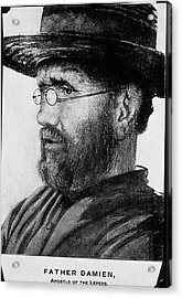 Damien De Veuster Acrylic Print by National Library Of Medicine