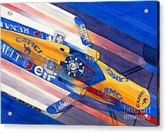 Damon Hill Acrylic Print by Robert Hooper