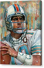Dan Marino Acrylic Print by Michael  Pattison