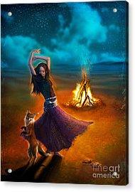 Dance Dervish Fox Acrylic Print by Aimee Stewart