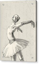 Dance Acrylic Print by H James Hoff