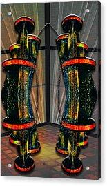 Dance In The Abstract Acrylic Print by John Haldane