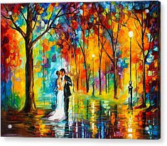 Dance Of Love Acrylic Print by Leonid Afremov