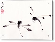 Dance Of The Dragonflies Acrylic Print by Oiyee At Oystudio