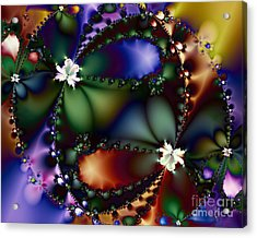 Dance Of The Gypsy Moths On A Moon Lit Night 20130510 Acrylic Print by Wingsdomain Art and Photography