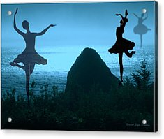 Dance Of The Sea Acrylic Print by Joyce Dickens