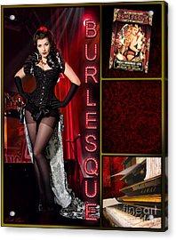 Dance Series - Burlesque Acrylic Print by Linda Lees