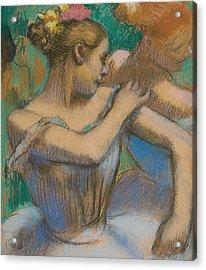 Dancer Adjusting Her Shoulder Acrylic Print by Edgar Degas