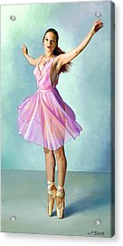 Dancer In Pink Acrylic Print by Paul Krapf