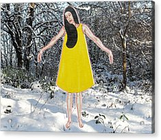 Dancer In The Snow Acrylic Print by Patrick J Murphy