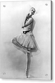 Dancer Nikitina At Monte Carlo Acrylic Print by Underwood Archives