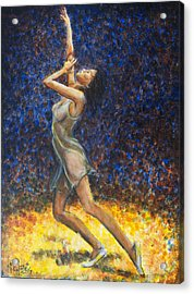 Dancer X Acrylic Print by Nik Helbig